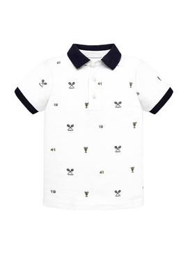 Polo Shirt Mayoral Tennis White Boy