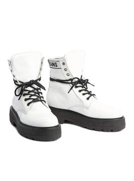 Bootss Tommy Jeans Foatform White Patent Leather W