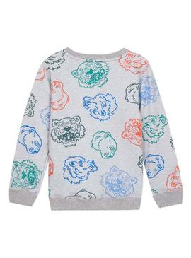 Sweatshirt Kenzo Georges Grey For Boy