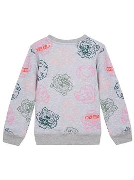 Sweatshirt Kenzo Twine Grey For Girl