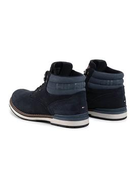 Bootss Tommy Hilfiger Outdoor Suede Blue Man
