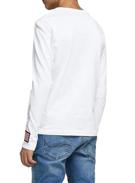 T-Shirt Jack and Jones Carlo White Boy