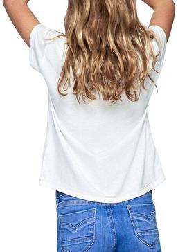 T-Shirt Pepe Jeans Cassiopeia White For Girl