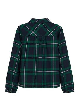 Shirt Mayoral Checked Knot Green For Girl