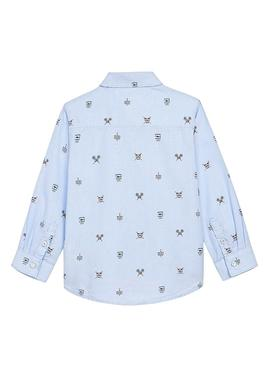 Shirt Mayoral Light Blue Print for Boy