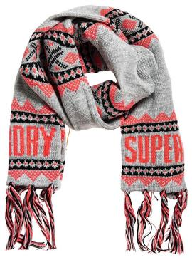 Scarf Superdry Jenna Fairisle Gray