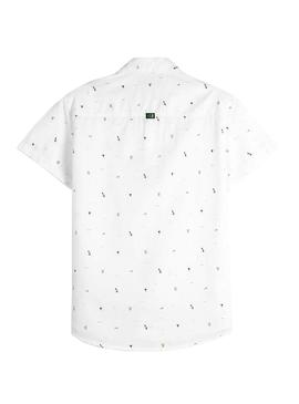 Shirt Mayoral White micro print for Boy