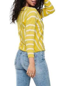Pullover Only Laya Yellow For Woman