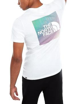 T-Shirt The North Face Rainbow White Man