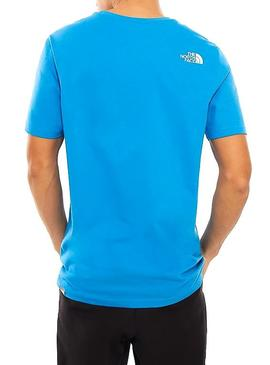 T-Shirt The North Face Logo Blue Man