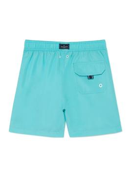 Swimsuit Hackett Logo Volley Turquoise For Boys