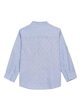 Shirt Mayoral Light Blue Printed Mao Neck Boy