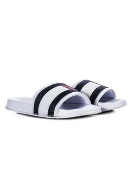 Sandals Tommy Hilfiger Flag Print White Girl