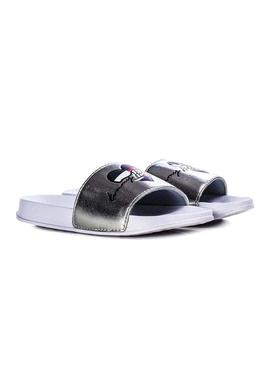 Flip Flops Tommy Jeans Heart Silver for Girl
