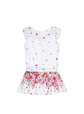 Jumpsuit Mayoral Flowers White for Girl