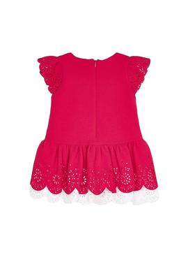 Dress Mayoral Openwork Fuchsia for Girl