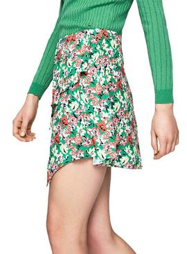 Skirt Pepe Jeans Nora Green Floral Women