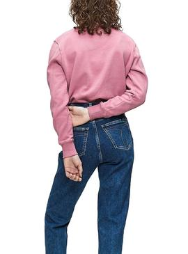 Sweatshirt Calvin klein Vegetable Dye Pink Woman
