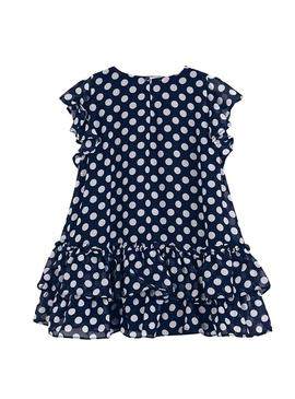 Dress Mayoral Topos Blue for Girl
