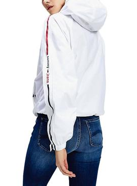 Windbreaker Tommy Jeans Branded White For Woman