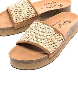 Sandals Pepe Jeans Oban Beige for Woman