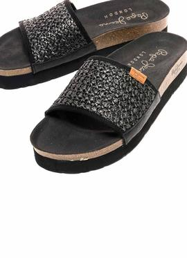 Sandals Pepe Jeans Oban Black for Woman