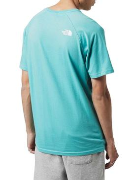 T-Shirt The North Face Turquoise Rag for Man