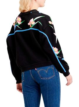 Sweatshirt Levis Celeste Tropical for Woman
