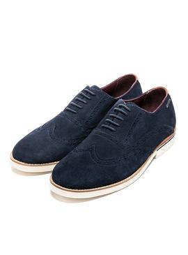 Shoes Pepe Jeans Dave Blu Navy for Man
