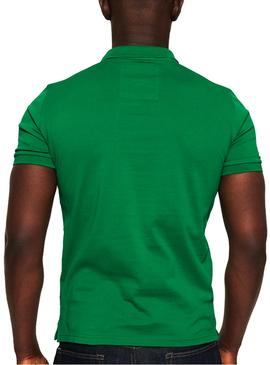 Polo Superdry Mercerised Lite Green Man