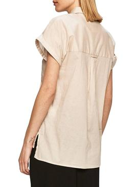 Shirt Pepe Jeans Ashley Beige for Woman