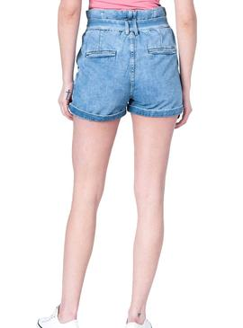 Short Pepe Jeans Phoebe Blue for Woman