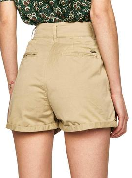 Short Pepe Jeans Mamba Beige for Woman