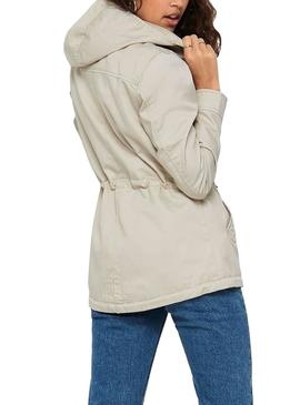 Parka Only New Lorca Spring Beige for Woman