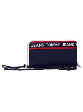 Wallet Tommy Jeans Logo Tape Blue for Woman
