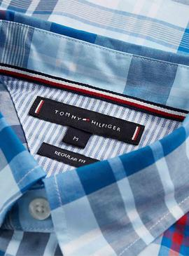 Shirt Tommy Hilfiger Large Check Blue for Man