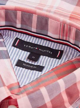 Shirt Tommy Hilfiger Large Check Red Man