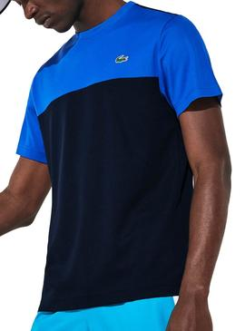 T-Shirt Lacoste Train Blue Blu Navy for Man