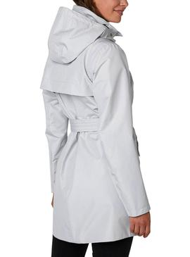 Trench Helly Hansen Welsey Gray for Woman