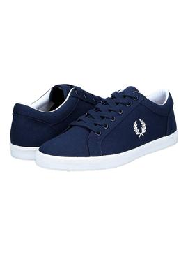 Sneaker Fred Perry Baseline Blue Navy Man