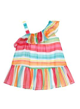 Dress bambula striped Watermelon