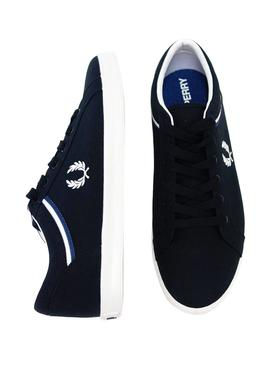 Sneaker Fred Perry Baseline Canvas Blue Man