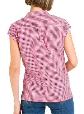 Shirt Naf Naf Checked Vichy Red for Woman