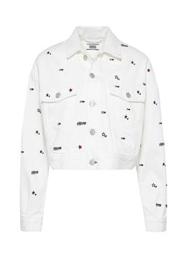 Jacket Tommy Jeans Star White for Woman