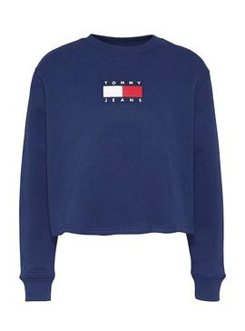 Sweatshirt Tommy Jeans Crew Blue for Woman