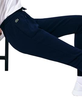 Trousers Lacoste Pant XF3168 Blu Navy Woman