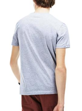 T-Shirt Lacoste Circular Gray for Man
