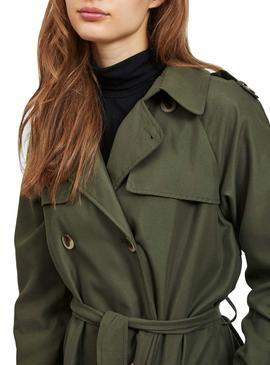Trench Coat Vila Trench Green Woman