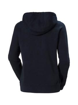Sweatshirt Helly Hansen Logo Full Blu Navy Woman