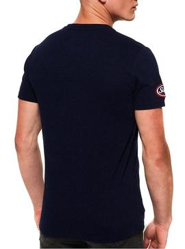 T-Shirt Superdry Patch Blu Navy For Man